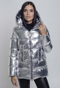 Куртка- пуховик Y33183 серебро
