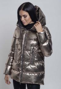 Куртка- пуховик Y33184 бронза